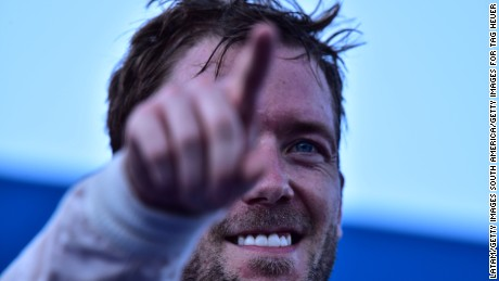 BUENOS AIRES, ARGENTINA - FEBRUARY 06:   Sam Bird of DS Virgin Racing Formula E Team celebrates after winning the Buenos Aires ePrix as part of 2015-2016 FIA Formula E Championship at Puerto Madero Street Race Track on February 06, 2016 in Buenos Aires, Argentina. (Photo by Amilcar Orfali/Getty Images for TAG Heuer)