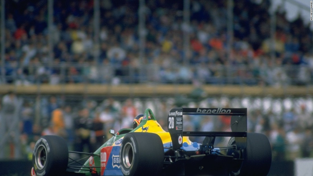 Belgium's Thierry Boutsen in action for the Benetton team at the 1988 British Grand Prix. Silverstone has enjoyed an unbroken run on the F1 calendar since 1987.