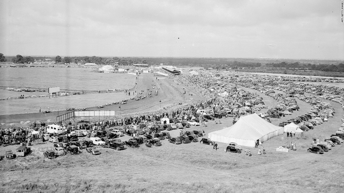 Fans attend the 1953 British Grand Prix. Motorsport lovers have always flocked to Silverstone in droves -- in 2017 attendance for the race weekend was in excess of 300,000.