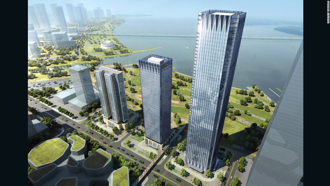 One of Shenzhen's newest central business districts is Qianhai, built on reclaimed land in the west of the city.