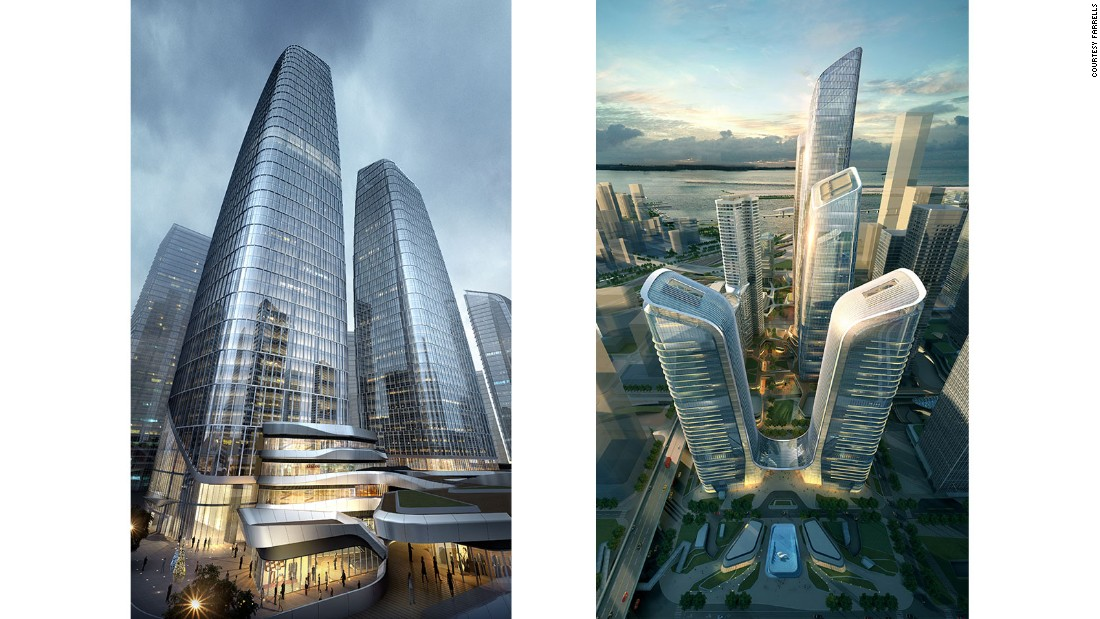 One Excellence is part of a complex of high-rises that are designed to accommodate new housing and offices in the western part of Shenzhen.