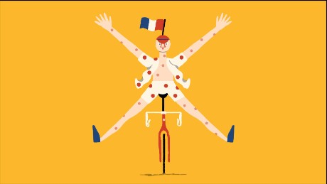 Illustration of Tour de France polka dot jersey