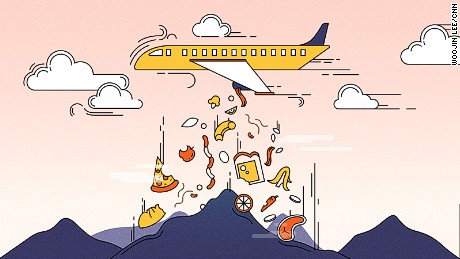 Illustration for airline food waste story
