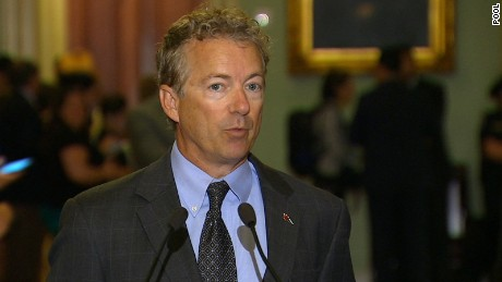 Sen. Rand Paul speaks on Capitol Hill