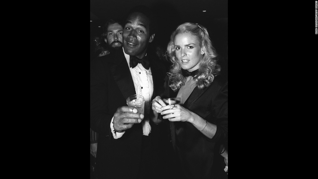 Simpson married Nicole Brown Simpson in 1985. Here the couple appears at a Los Angeles nightclub around 1976.