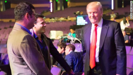 Ike Kaveladze and Emin Agalarov meeting with President Donald Trump in what appears to be the venue for the Miss USA pageant.