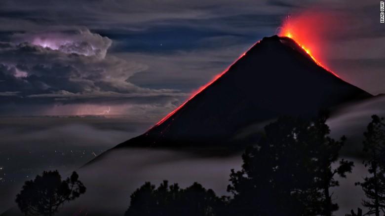 It's lit! These drones film erupting volcanoes