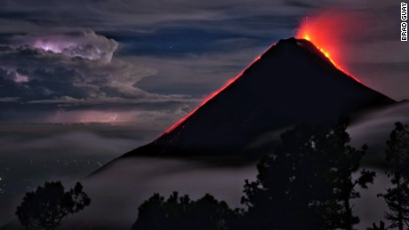 A photo of the Volcán de Fuego, Guatemala, on Sunday, July 9, 2017. (Photo: Brad Guay)