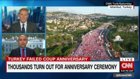 Erdogan affirms power year after failed coup