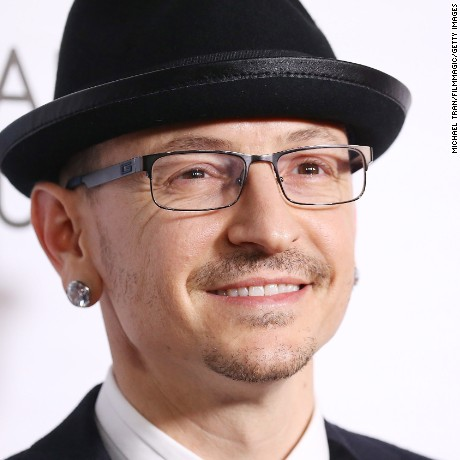 Chester Bennington arrives at Warner Music Group's Annual GRAMMY Celebration held at Milk Studios on February 12 in Hollywood, California.