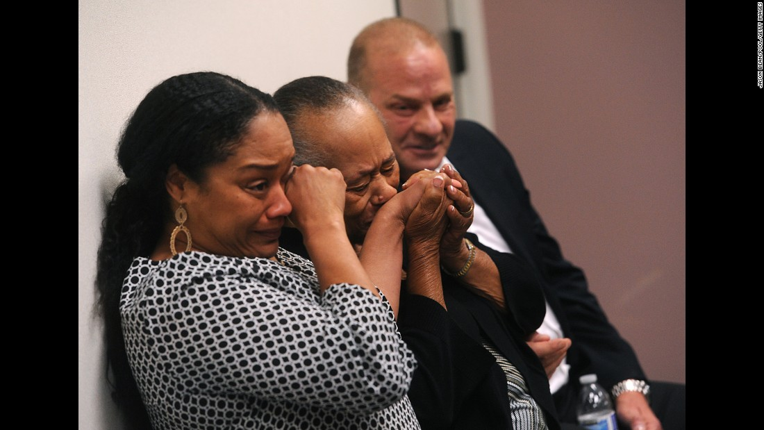 "O.J. Simpson's daughter Arnelle Simpson, left, sister Shirley Baker and friend Tom Scotto react during Simpson's parole hearing at Lovelock Correctional Center in Lovelock, Nevada, on Thursday, July 20. A Nevada parole board <a href=""http://www.cnn.com/2017/07/20/us/oj-simpson-parole-hearing/index.html"" target=""_blank"">decided Simpson should be freed</a> after the former NFL star apologized for his role in a 2007 armed robbery, said he'd been a model prisoner, and promised he'd have no conflicts if released."