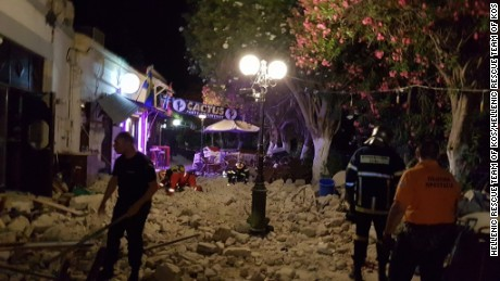 About 200,000 people in Greece and Turkey felt strong to very strong shaking, the USGS estimated.  Images from the Greeke Island of Kos show rubble in the streets and shops trashed.