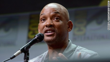 "Actor Will Smith speaks onstage at Netflix Films: ""Bright"" and ""Death Note"" panel during Comic-Con International 2017 at San Diego Convention Center on July 20, 2017 in San Diego, California."