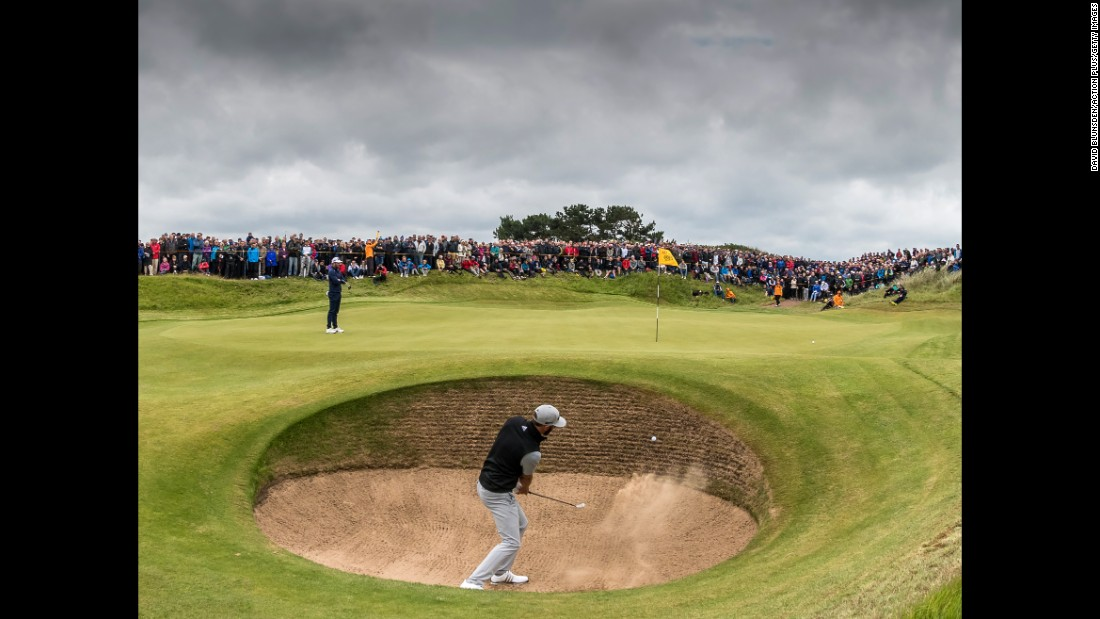 British Open: Spieth takes 3-shot lead into final round