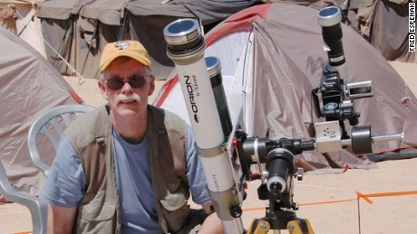 Fred Espenak, retired NASA astrophysicist, eclipse expert and photographer.