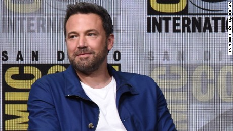 "Actor Ben Affleck attends the Warner Bros. Pictures ""Justice League"" Presentation during Comic-Con International 2017 at San Diego Convention Center on July 22, 2017 in San Diego, California."