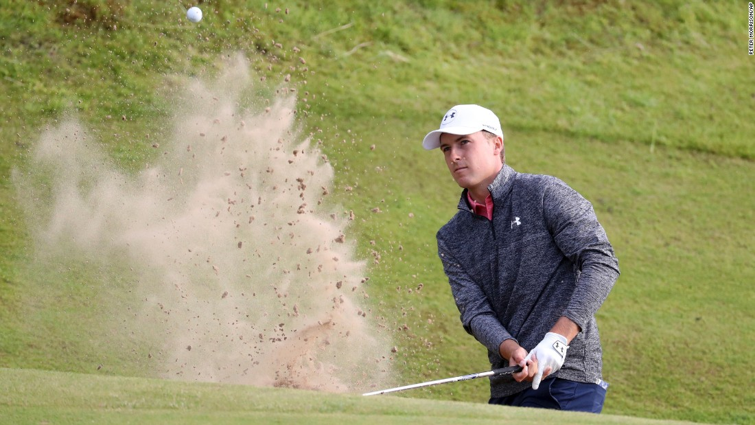 Spieth answered Grace's challenge with a 65 to take a three-shot lead into the final round at Royal Birkdale.