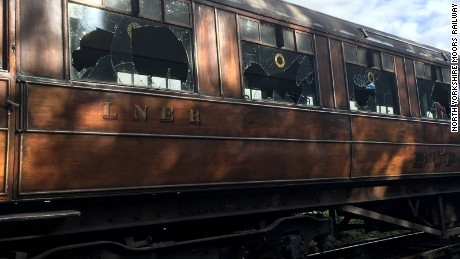 Early in the morning of July 23, 2017, historic teak carriages that belong to the North Yorkshire Moors Railway were vandalized. The carriages were parked in the siding, at the far side of the main visitor car park at Pickering. The carriages have regularly appeared in films and television, most famously in the show 'Downton Abbey.'
