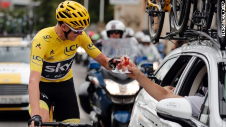 Chris Froome toasts 4th Tour de France victory