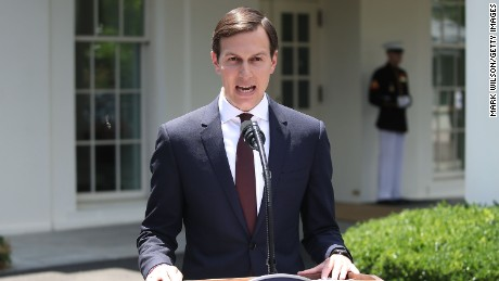 White House Senior Advisor and President Donald Trump's son-in-law Jared Kushner reads a statment in front of West Wing of the White House after testifying behind closed doors to the Senate Intelligence Committee about Russian meddling in the 2016 presidential election at the White House July 24, 2017 in Washington, DC.