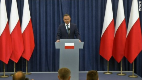 Poland's President Andrzej Duda vetoes controversial law