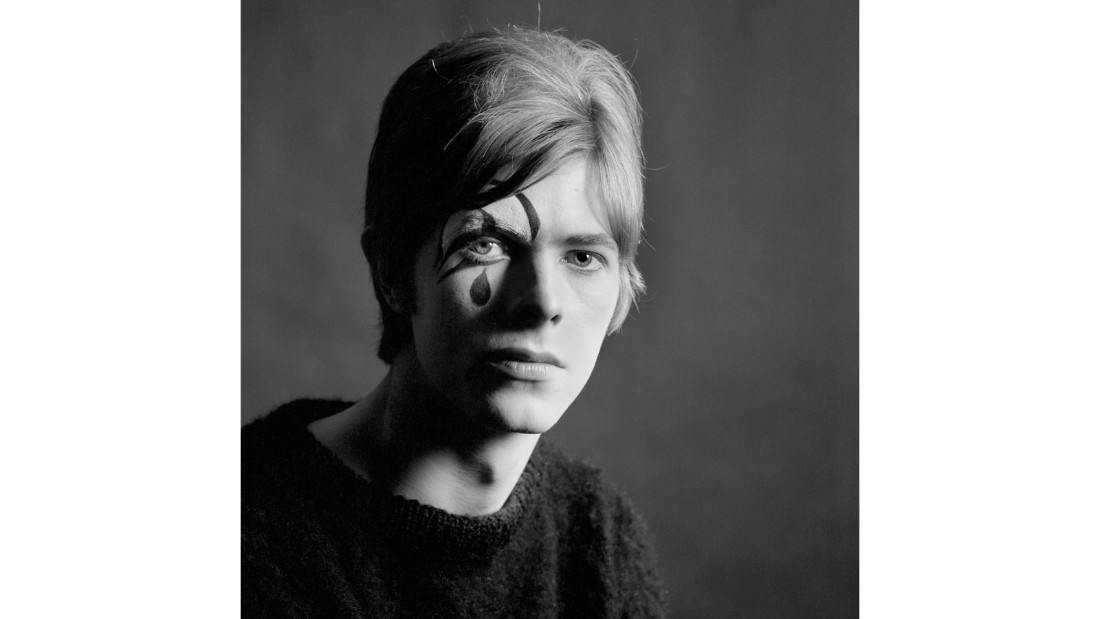 While the album was not an instant hit, the series of photos -- featuring Bowie in makeup in some shots, posing dramatically in others -- now act as a prelude to some of his future looks.