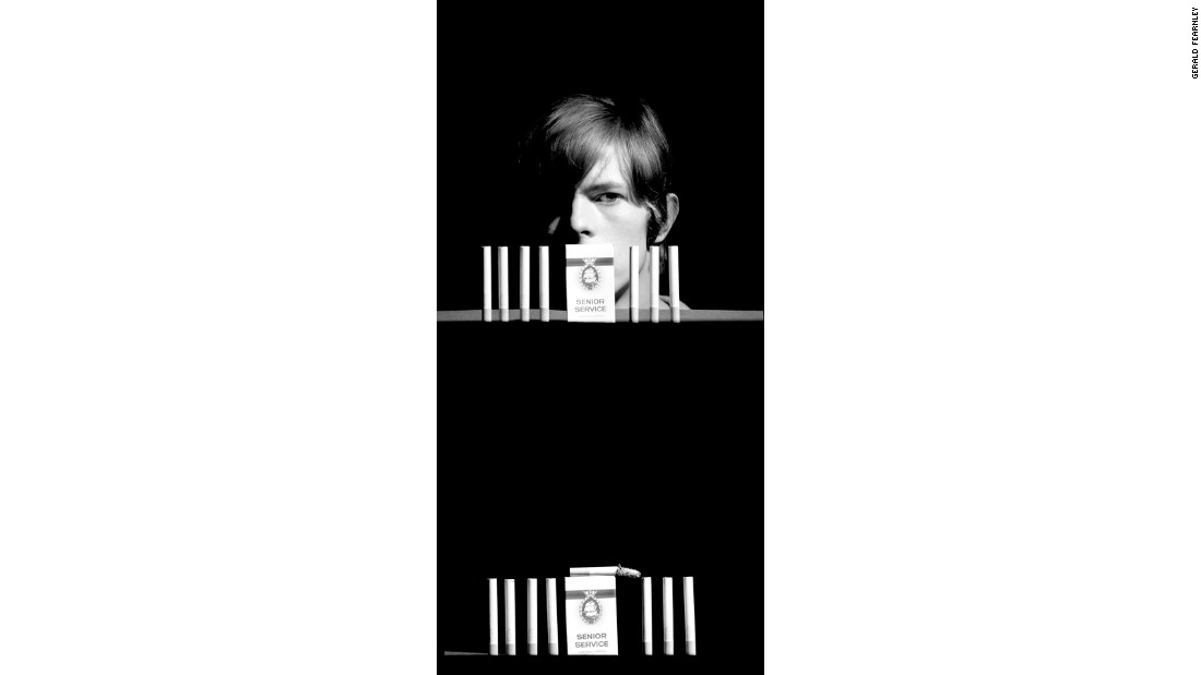 "Bowie's first bout of success would come shortly after these pictures were taken. His 1969 single ""Space Oddity"" would be the first to make the charts in the UK."