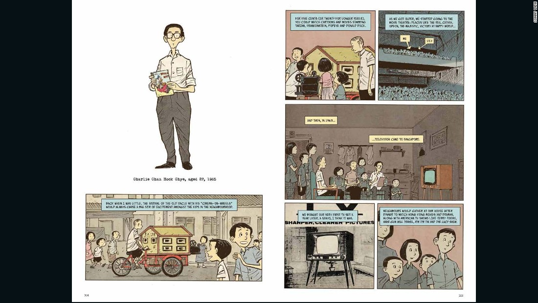 """The book is essentially a history of Singapore told through the lens of a comic book artist called Charlie Chan,"" Liew explained over the phone from San Diego."