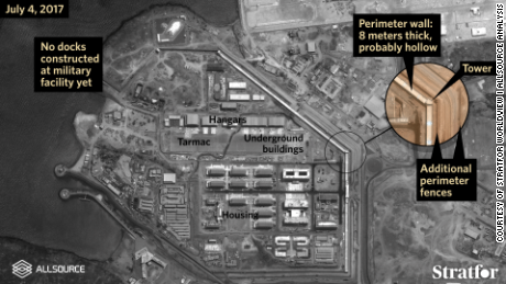 Satellite imagery provided by Stratfor Worldview and AllSource Analysis shows details of China's new military base in the African country of Djibouti.