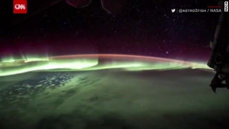 Southern Lights captured from space station