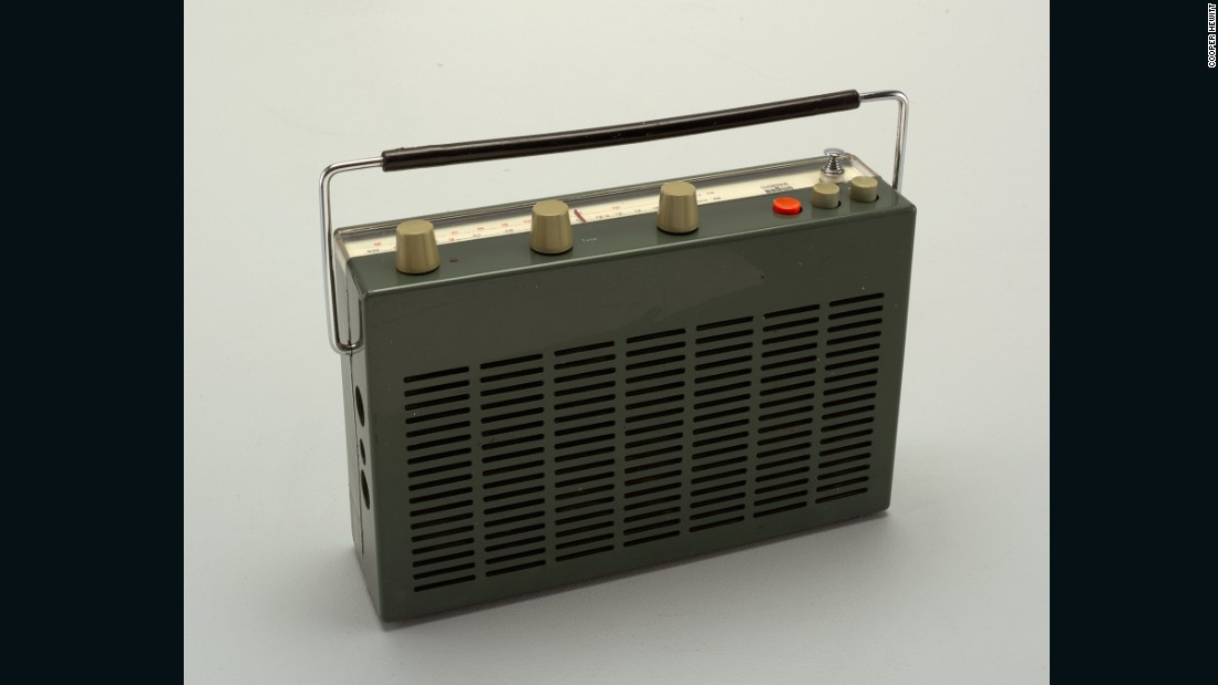 Before car manufacturers starting installing radios in their vehicles, this early portable radio was marketed to drivers, and could be carried or mounted in a car.