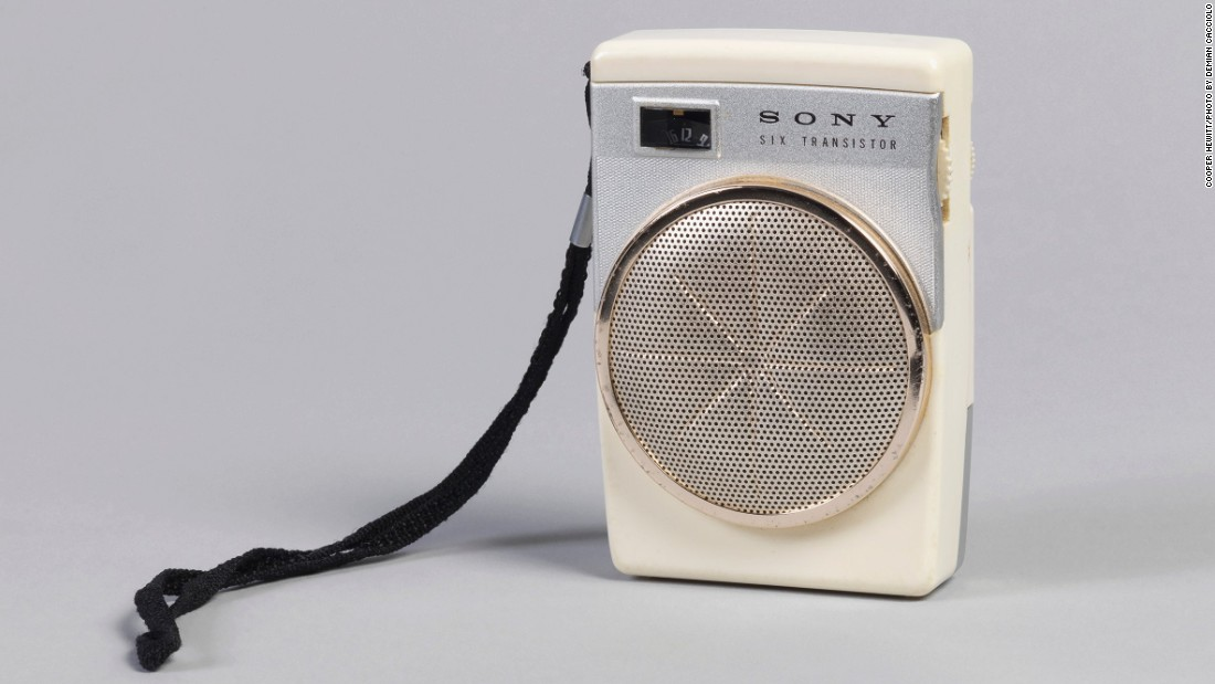 The trend for portable radios was kick-started by the first generation of transistors, like this iconic device from Sony.