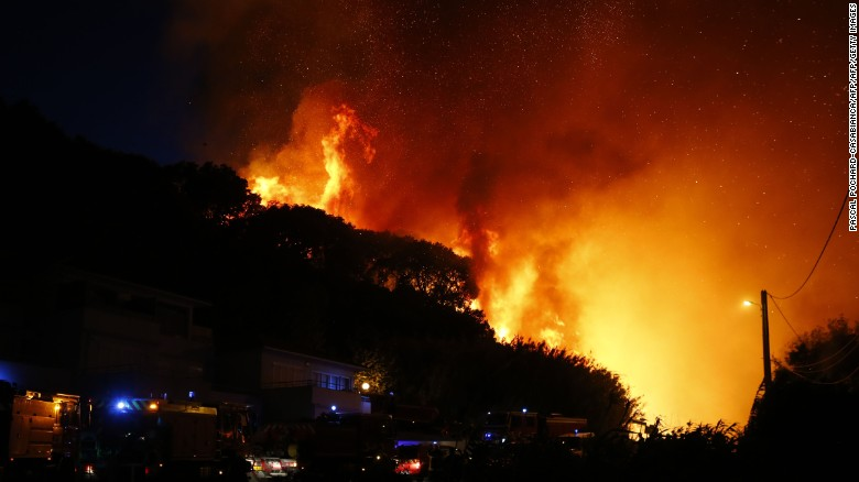 Wildfires rage in southern France