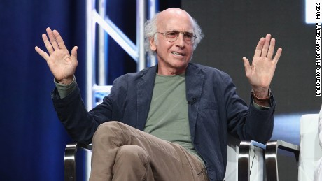 Creator/executive producer Larry David of 'Curb Your Enthusiam' speaks onstage during the HBO portion of the 2017 Summer Television Critics Association Press Tour at The Beverly Hilton Hotel on July 26, 2017 in Beverly Hills, California.  (Photo by Frederick M. Brown/Getty Images)