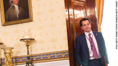White House Communications Director Anthony Scaramucci is seen before the start of a health care related event at The White House on July 24, 2017 in Washington, DC.