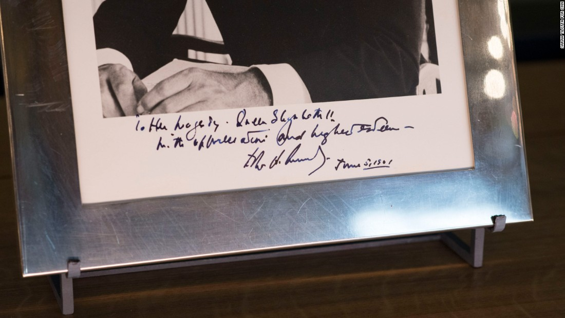 "Kennedy signed his photograph ""with affection and highest esteem"" and dated it June 5, 1961. She hosted a dinner for the President and his wife that night."
