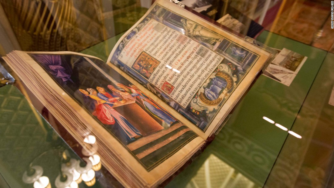 The most recent gift in the collection was given by King Felipe VI and Queen Letizia of Spain just days before the exhibition opened in July 2017. It's a reproduction of a book that belonged to Spain's King Philip II, who married England's Queen Mary Tudor in the 16th century -- a sign of the history the two countries share.