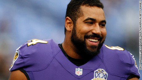 BALTIMORE, MD - NOVEMBER 1: Guard John Urschel #64 of the Baltimore Ravens looks on prior to a game against the San Diego Chargers at M&T Bank Stadium on November 1, 2015 in Baltimore, Maryland. (Photo by Matt Hazlett/Getty Images)