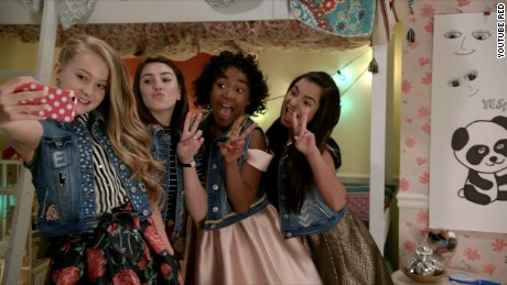 "The music group L2M are the stars of the YouTube Red series ""Hyperlinked."""