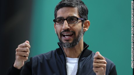 Google CEO Sundar Pichai expressed Google's plan to expand digital skills in the continent by training 10 million Africans over the next five years. Photo by Justin Sullivan/Getty Images