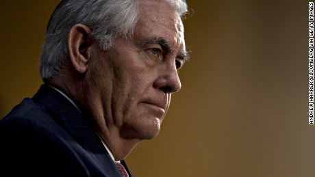 Rex Tillerson, former chief executive officer of Exxon Mobil Corp. and U.S. secretary of state nominee for president-elect Donald Trump, listens during a Senate Foreign Relations Committee confirmation hearing in Washington, D.C., U.S., on Wednesday, Jan. 11, 2017. Tillerson said Russia poses a danger to the U.S. and must be held accountable for its actions, a sharp departure from comments by Trump, who has called for a friendlier relationship with Russian President Vladimir Putin. Photographer: Andrew Harrer/Bloomberg via Getty Images