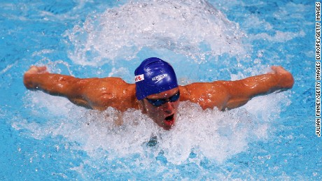 MANCHESTER, UNITED KINGDOM - APRIL 11:  Mark Foster of United Kingdom competes in the Men's 50m Butterfly Heat during the ninth FINA World Swimming Championships (25m) at the MEN Arena on April 11, 2008 in Manchester, England.  (Photo by Julian Finney/Getty Images)