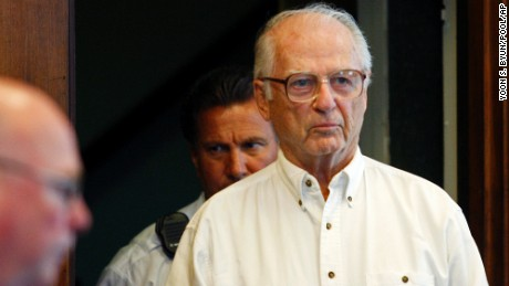 **FILE** In this May 29, 2008, file photo, defrocked priest Paul Shanley, 77,  appears in Suffolk County Superior Court in Boston to seek a new trial. On Wednesday, Nov. 26, 2008, Judge Stephen Neel rejected the request. Shanley, one of the central figures in Boston's clergy sex abuse scandal, is currently serving a 12- to 15-year prison sentence after being convicted in 2005 of repeatedly raping and fondling a boy at a Newton parish in the 1980s.  (AP Photo/Yoon S. Byun, Pool)