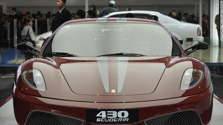 A Ferrari 430 Scuderia on display at the Beijing Auto Show in April 2008.