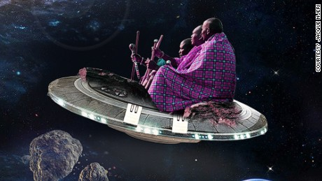 Meet a Kenyan artist taking the East African harders, theMaasai, to space.