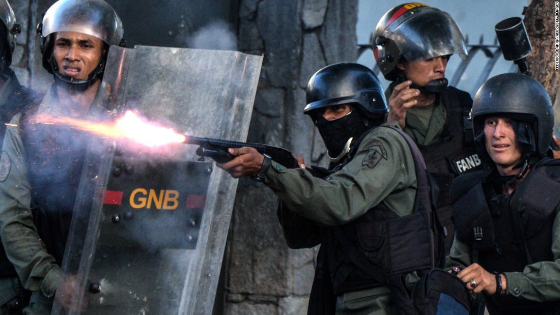 Clashes between authorities and protesters have turned sometimes turned violent in Caracas.