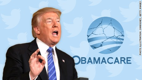 cnnmoney trump tweeting obamacare