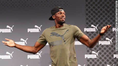 Bolt was in good spirits at his press conference ahead of the 2017 World Athletics Championships
