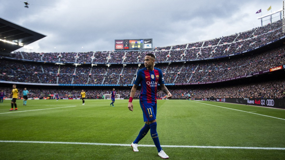 Since arriving to Barcelona in 2013, Neymar has helped the club win the Champions League, two league titles and three Copa del Reys. He has scored more than 100 goals.