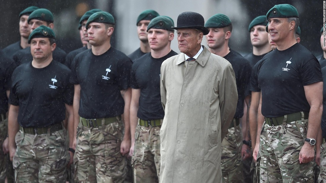 Prince Philip makes his final public appearance before his retirement, attending a parade of the Royal Marines at Buckingham Palace. The event also marks an end to Philip's 64 years as captain general, the ceremonial leader of the Royal Marines.